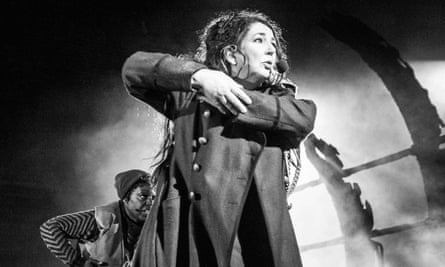 Kate Bush on stage at the Hammersmith Apollo