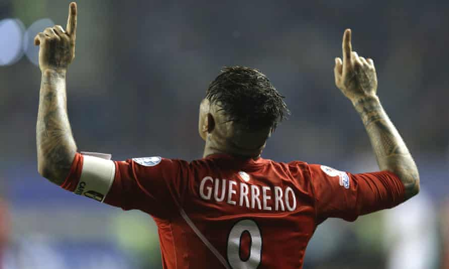 Three goals from Paolo Guerrero were enough to down Bolivia at the German Becker Stadium in Temuco, Chile.