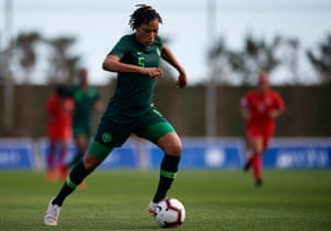 Onome Ebi will play in her fifth World Cup and at 36 is a vital presence at the back for Nigeria.