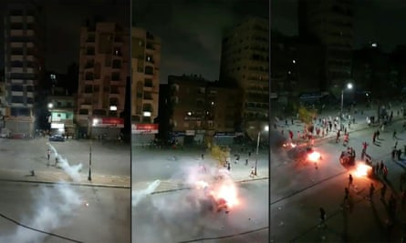 Confrontations between Egyptian security forces and protesters in al-Arbaeen Square in the centre Suez, on 22 September.
