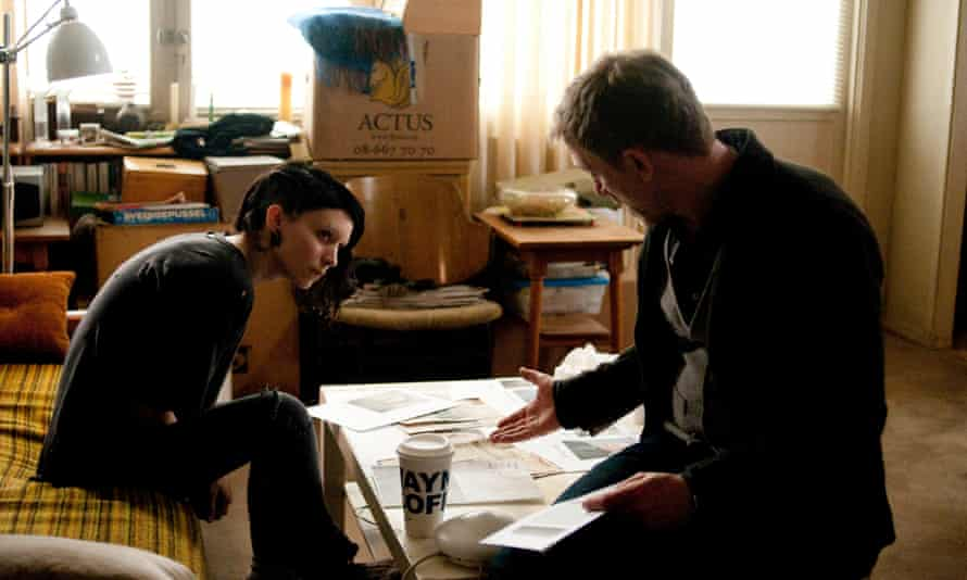 Rooney Mara and Daniel Craig in The Girl with the Dragon Tattoo.