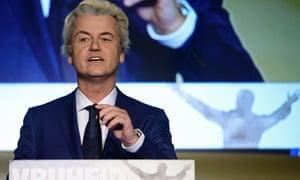 Dutch far-right Freedom party leader Geert Wilders