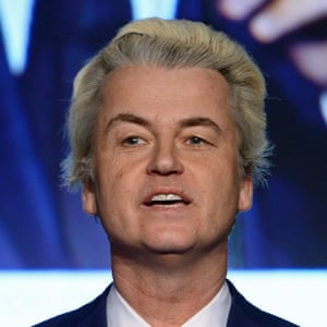 Geert Wilders, leader of the far-right Dutch Party for Freedom