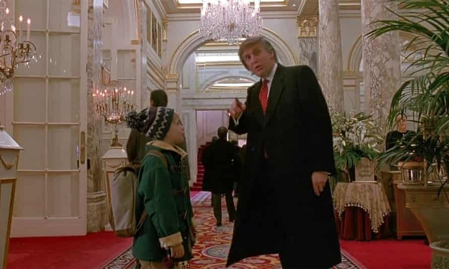 Trump appears briefly in Home Alone 2: Lost in New York when Culkin, as Kevin, asks him for directions to the lobby of the Plaza hotel.