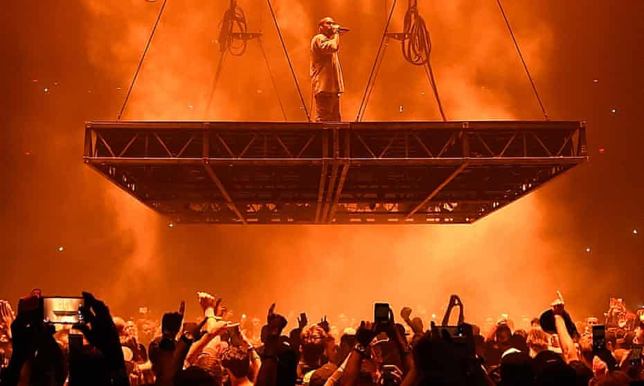 'I'd never seen 20,000 people losing their minds' … Kanye West on the Saint Pablo tour.