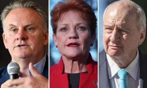 Mark Latham, Pauline Hanson, Alan Jones