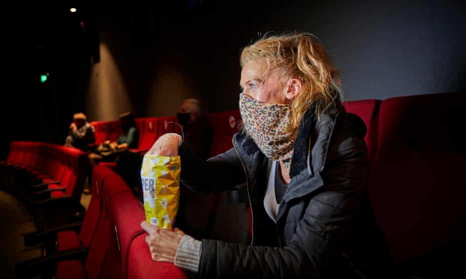 Caroline Wilson enjoying the film Minari at Home Manchester.