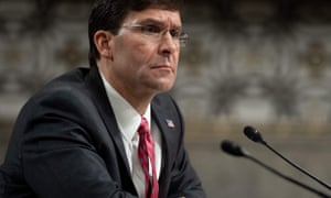 Mark Esper is reviewing the bid process for the military's $10bn cloud-computing contract.