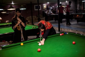 Long-term projects – second prizeWomen play pool in a male-only venue in Tehran, Iran