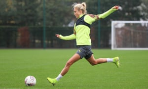 England and Manchester City captain Steph Houghton training this month.