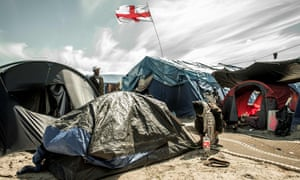 A camp for migrants and refugees in Calais