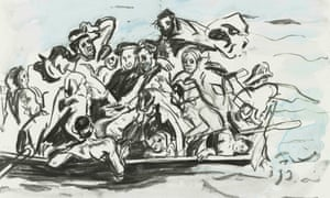 Cecily Brown's Shipwreck drawings, 2016.