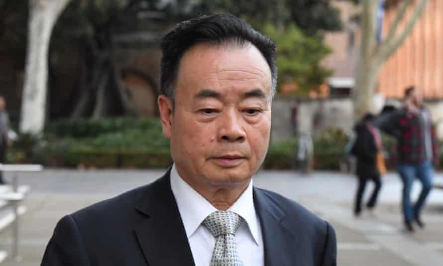 Chinese-Australian businessman Chau Chak Wing leaves the federal court in Sydney during his successful defamation case against the ABC and Nine.