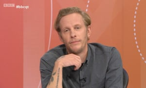 Laurence Fox on BBC's Question Time in January.