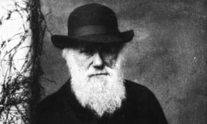 'Charles Darwin, by all accounts a warm character and a loving, playful parent, looks frozen in glumness in photographs.'