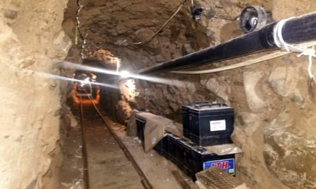 A tunnel discovered in 2015 through which large quantities of drugs were smuggled from the border city of Tijuana to San Diego.