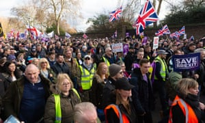 The so-called Brexit Betrayal rally in London on 9 December.