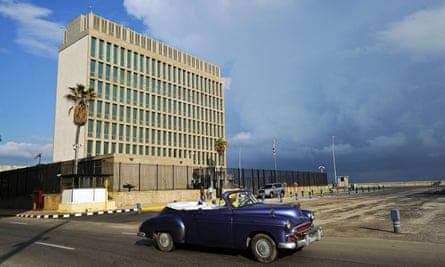 The US embassy in Havana, Cuba, where cases of unexplained hearing loss were reported from autumn 2016 to April this year.