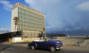 The US embassy in Havana. At least 16 Americans were hurt in what the US has claimed were acoustic attacks on the US mission in Cuba.