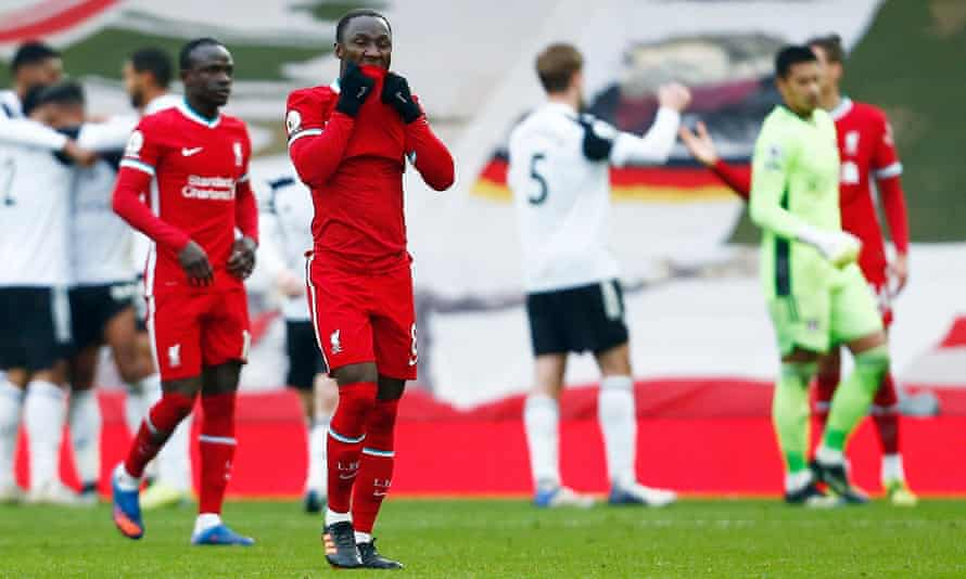Despair for Naby Keïta and teammates as Liverpool lose to Fulham. A relatively callow squad have struggled this season.