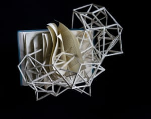 Tinker Tailor Soldier Spy book sculpture by Stephen Doyle.