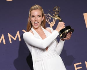 LA, California: Jodie Comer adds another award to her trophy cabinet after picking up best actress in a drama at the Emmy Awards