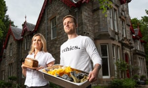 Jack McLaren-Stewart with his mother, Sandra, at their Saorsa 1875 vegan hotel in Pitlochry, Perthshire