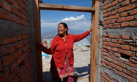 Three years after the earthquake, women trained as masons are rebuilding houses near Kathmandu and becoming independent as they earn their own money.