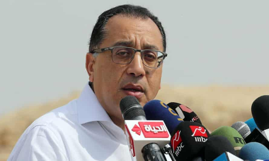Egypt's prime minister, Mostafa Madbouly