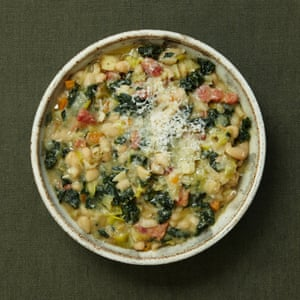 Alastair Little's winter minestrone with white beans and greens.
