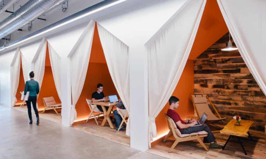 Airbnb's bedouin tent meeting rooms.