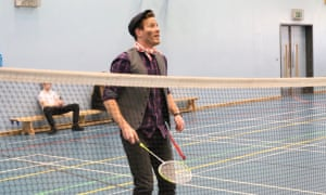 Bert plays some badmintonBert from Mary Poppins teaches PE - The teachers get in to character this World Book Day at Merchants' Academy