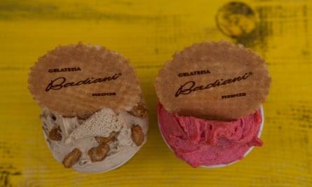 'Luscious': raspberry and caramel ice cream.