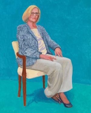 Dagny Corcoran, 15-17 January (2014) by David Hockney.