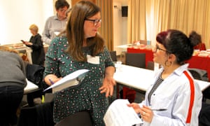 Delegates share good practice during a networking session the Guardian Education Centre Reading for pleasure conference 28 March 2019