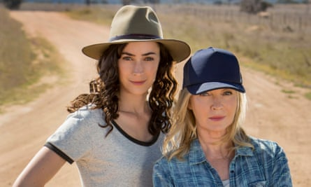 Geraldine Hakewill and Rebecca Gibney star as women on the run in Channel Seven's crime drama Wanted