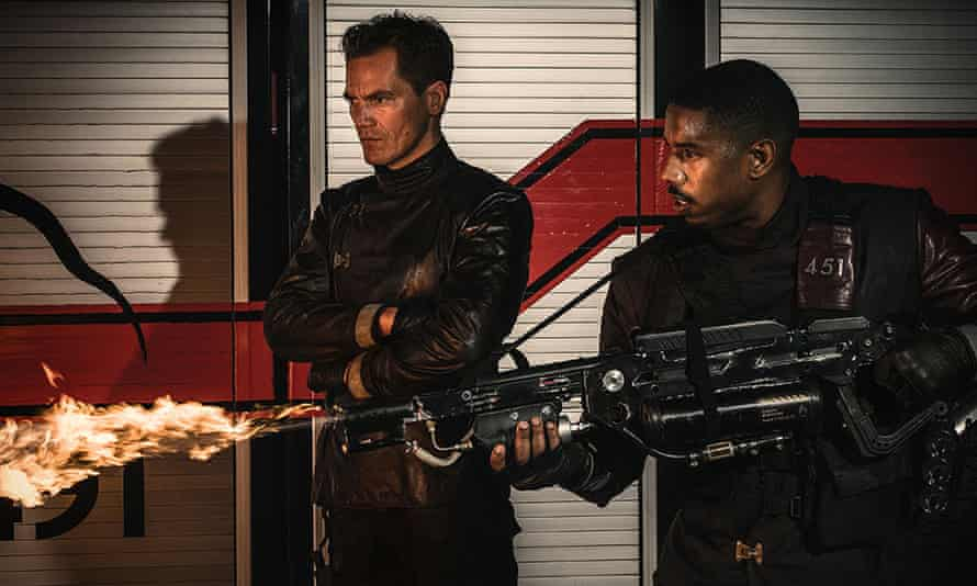 'We never get a sense of what in these books has intellectually stirred Montag from his stupor' … Michael Shannon and Michael B Jordan in Fahrenheit 451