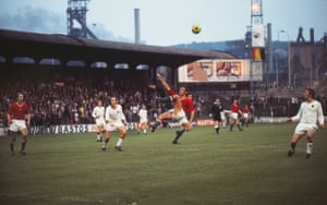 Hungary's Tibord Fabian performs an overhead kick in the Stade Maurice Dufrasne in Liège.
