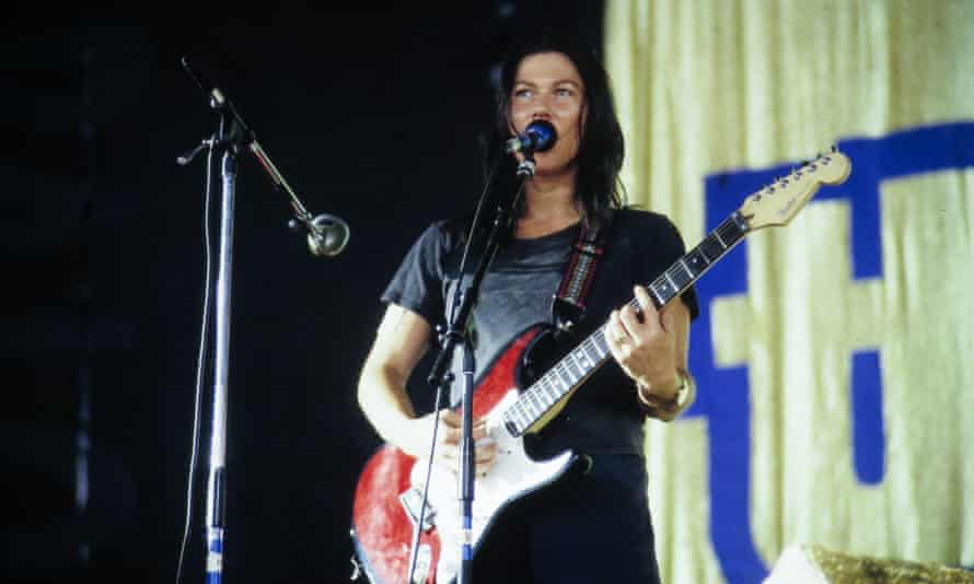 Kim Deal performs with the band at Lollapalooza in 1994