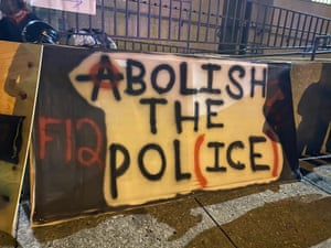 One of the protest banners in Louisville.