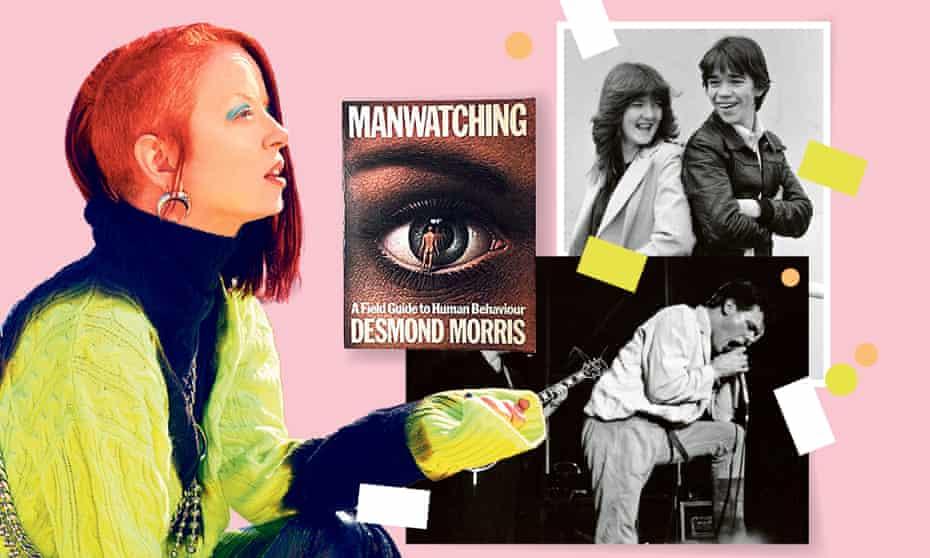 Clockwise: Shirley Manson, Manwatching by Desmond Morris, Grange Hill and Billy Mackenzie.