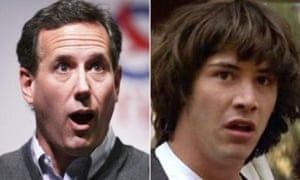 Rick Santorum and Keanu Reeves