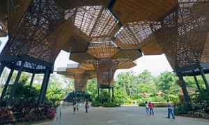 The Orchideorama was designed by the winner of an architectural competition in 2008.