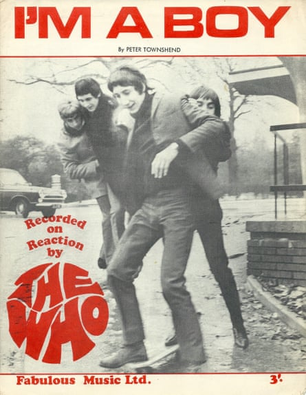 Sheet music for I'm A Boy by the Who