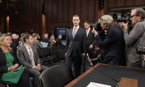 A four-minute rule seemed to stymie searching questions of Mark Zuckerberg, above, as he testified before the Senate committees.