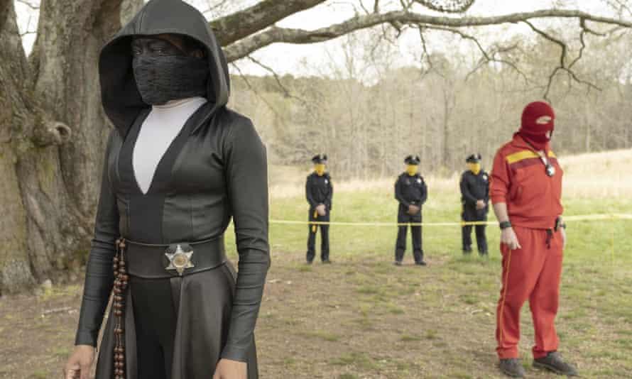 Regina King (left) in Watchmen.