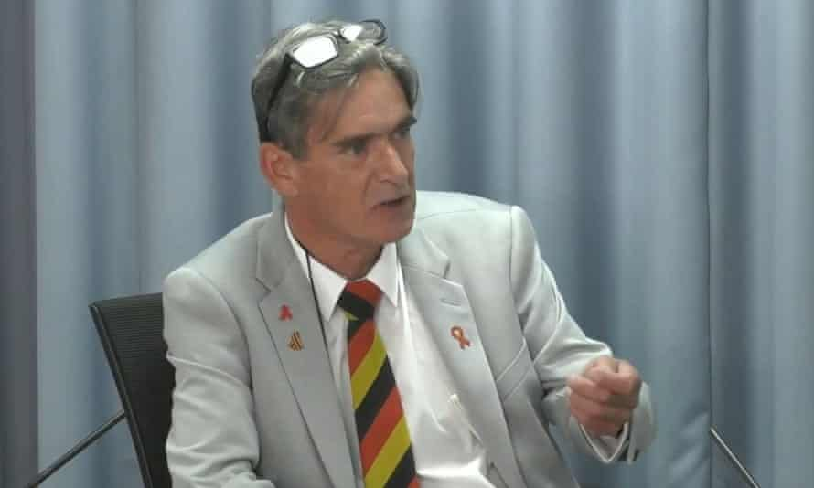 Gary Webster, a former pupil of Lord Mayor Treloar College, gives evidence at the Infected Blood Inquiry on Monday 21 June.