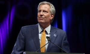 Bill de Blasio speaks at the Netroots Nation annual conference for political progressives in New Orleans, Louisiana, on 4 August 2018.
