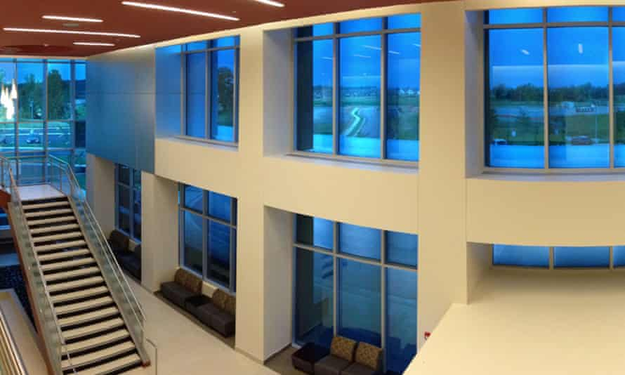 View's glass installed at the Methodist Olive Branch Hospital in Memphis. The hospital saved $22,000 after installing the windows, and saves $2,000 annually in energy costs.