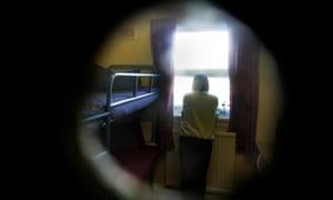 A female prisoner in a call